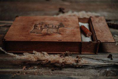 wooden photo boxes 15x23cm