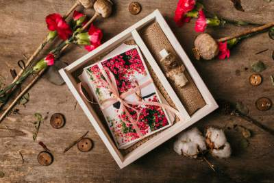 engraving wooden box 10x15 with usb