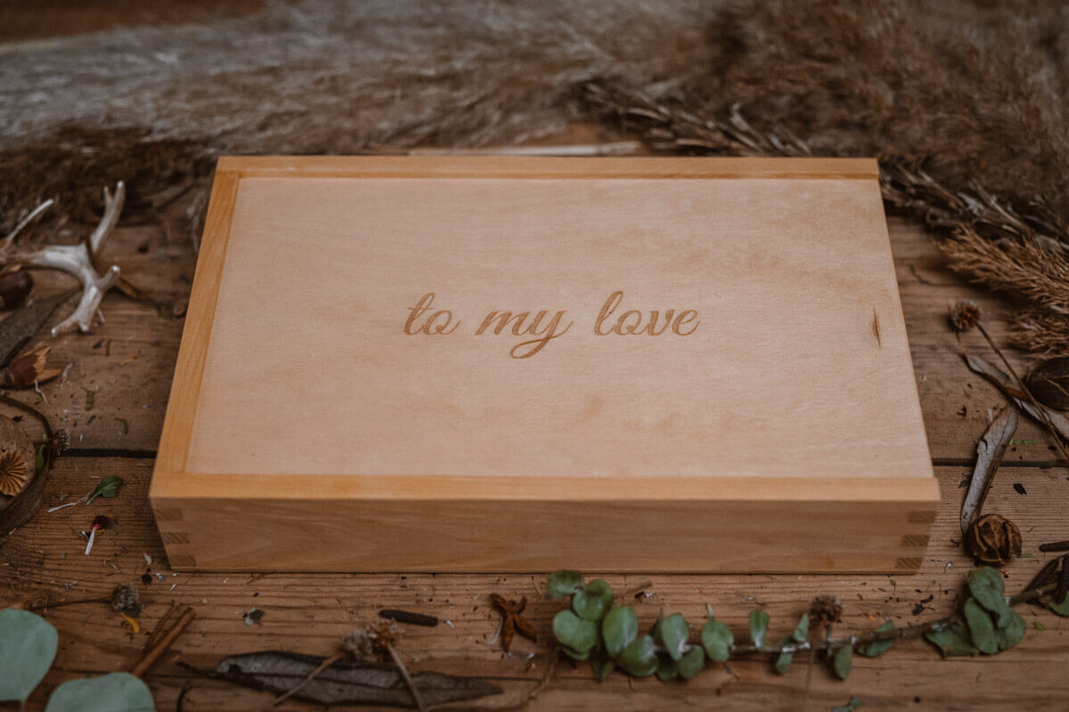 pine box for wedding
