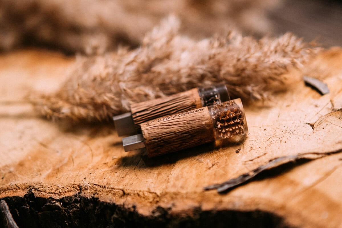 wooden memory stick