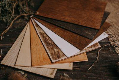 wzornik kolorów pudełek drewnianych