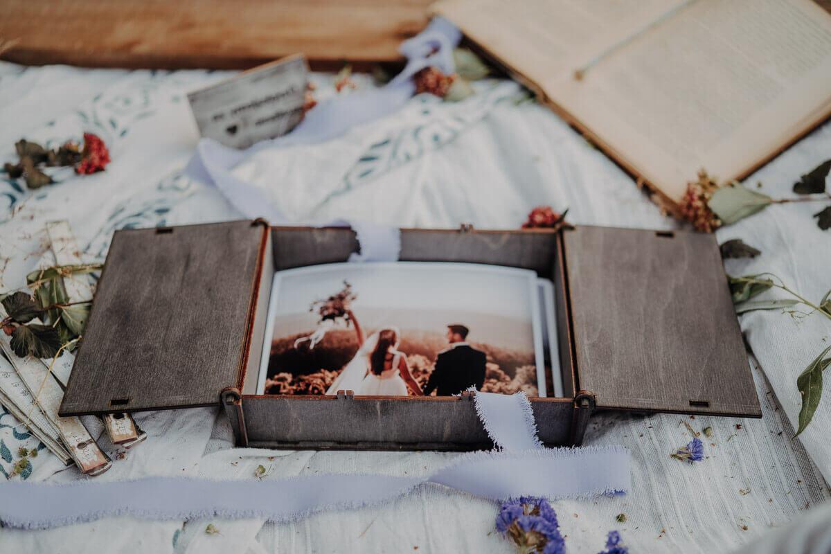 plywood box Photo box 13x18cm