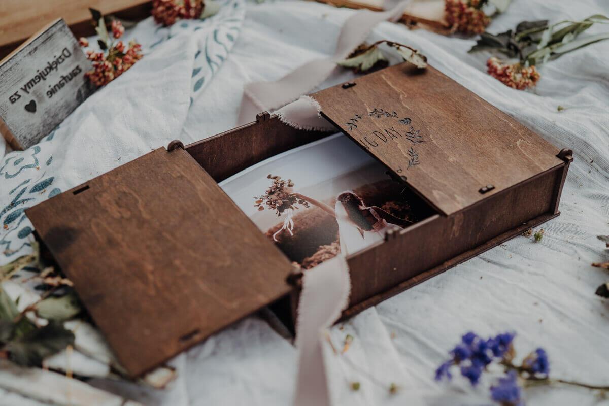 6x8 wood print box
