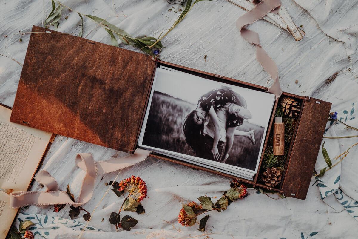 wood photo box