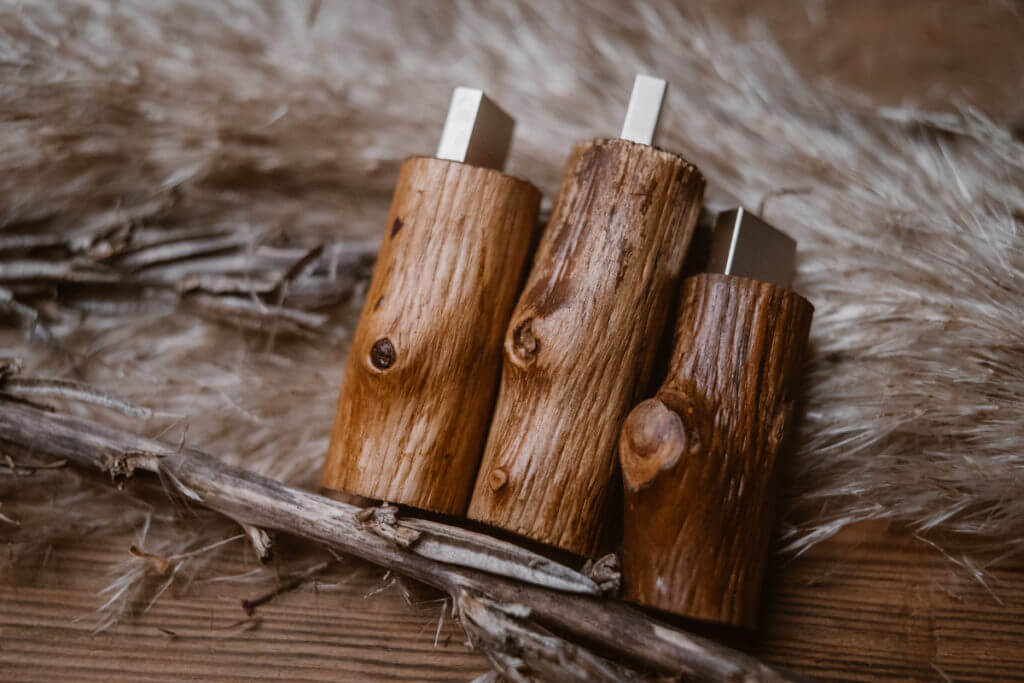 natural twig usb wood